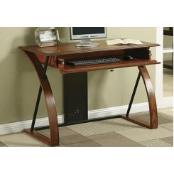 Declan Computer Desk (Teak Finish)