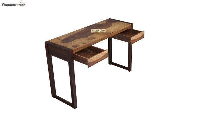 Glaze Study Table (Teak-Walnut Finish)-4