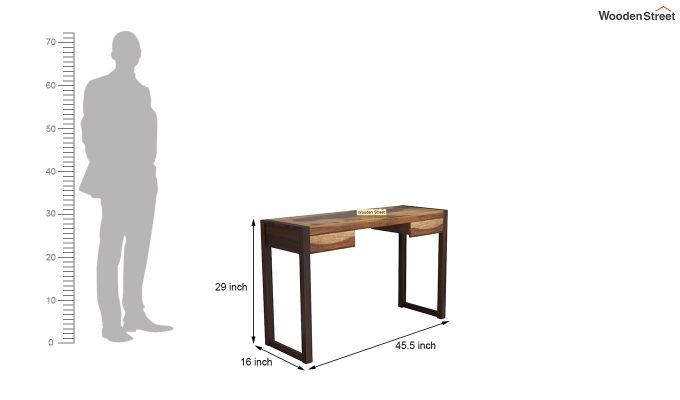 Glaze Study Table (Teak-Walnut Finish)-5