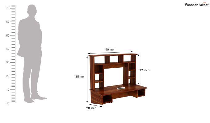 Gordon Wall Mounted Study Table (Honey Finish)-5