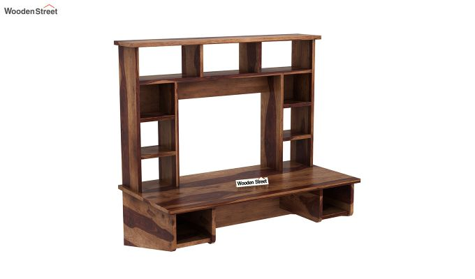 Buy Gordon Wall Mounted Study Table Teak Finish Online