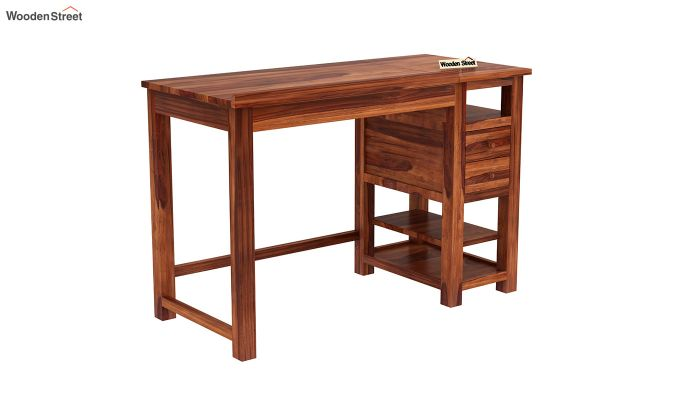 Graham Study Cum Drafting Table (Honey Finish)-3