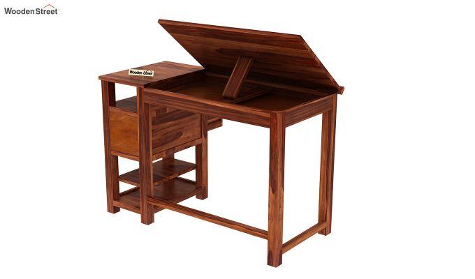 Graham Study Cum Drafting Table (Honey Finish)-5