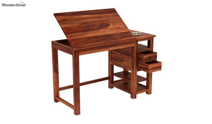 Graham Study Cum Drafting Table (Honey Finish)-6