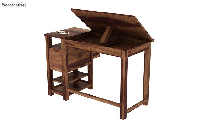 Graham Kids Study Cum Drafting Table (Teak Finish)-5