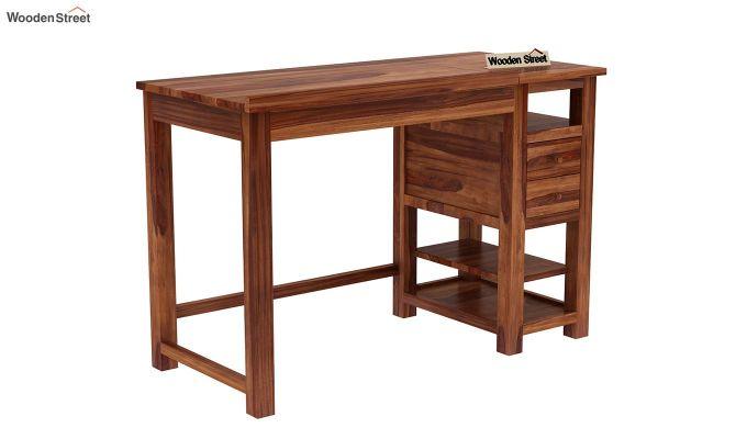 Graham Study Cum Drafting Table (Teak Finish)-3