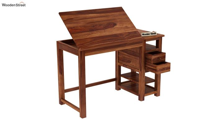 Graham Study Cum Drafting Table (Teak Finish)-5