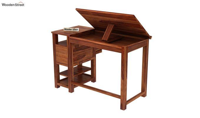 Graham Study Cum Drafting Table (Teak Finish)-6