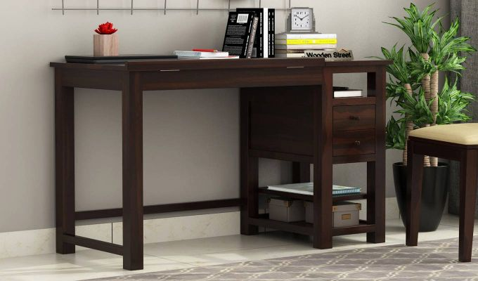 Graham Study Cum Drafting Table (Walnut Finish)-2