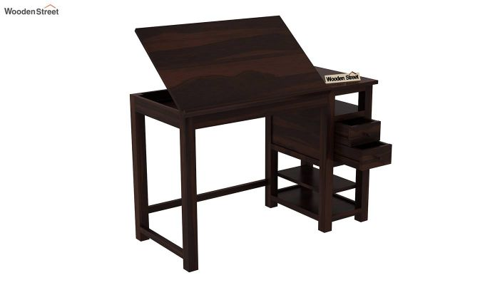 Graham Study Cum Drafting Table (Walnut Finish)-5