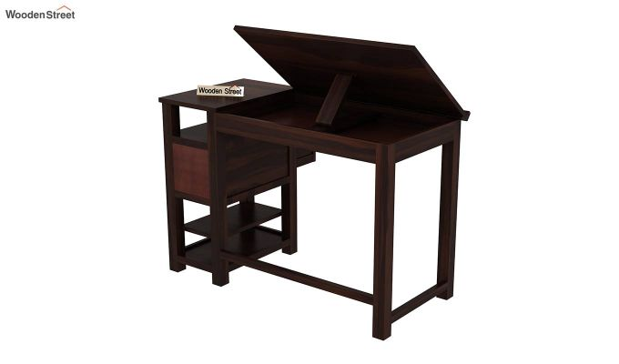 Graham Study Cum Drafting Table (Walnut Finish)-6