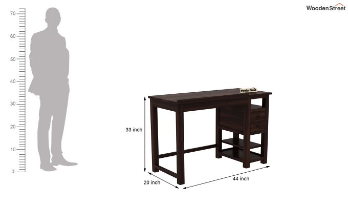 Graham Study Cum Drafting Table (Walnut Finish)-7