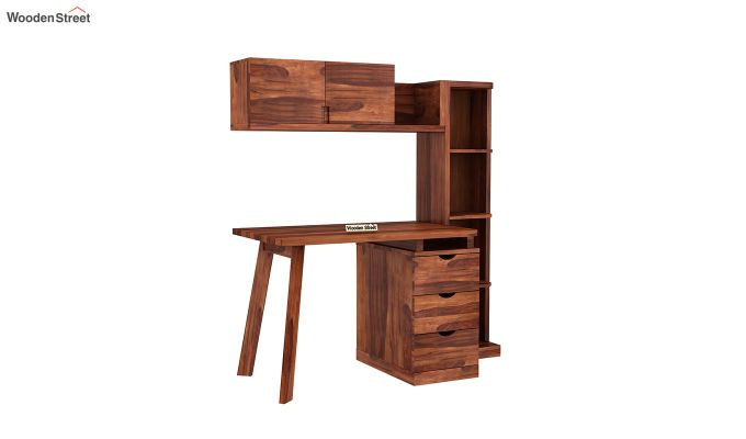 Grande Kids Study Table With Drawers (Honey Finish)-2