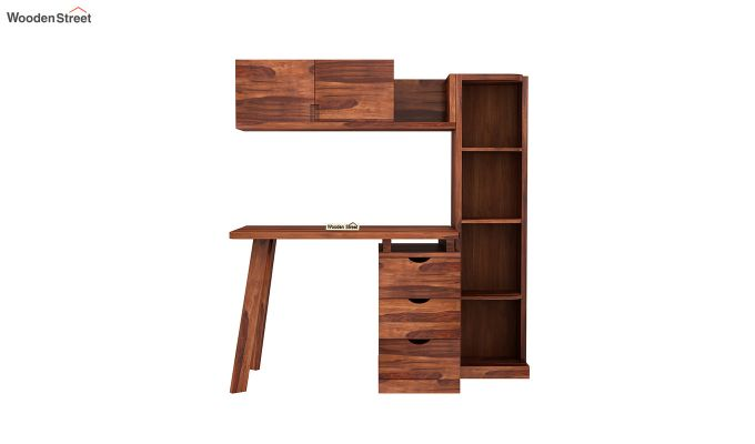 Grande Kids Study Table With Drawers (Honey Finish)-3