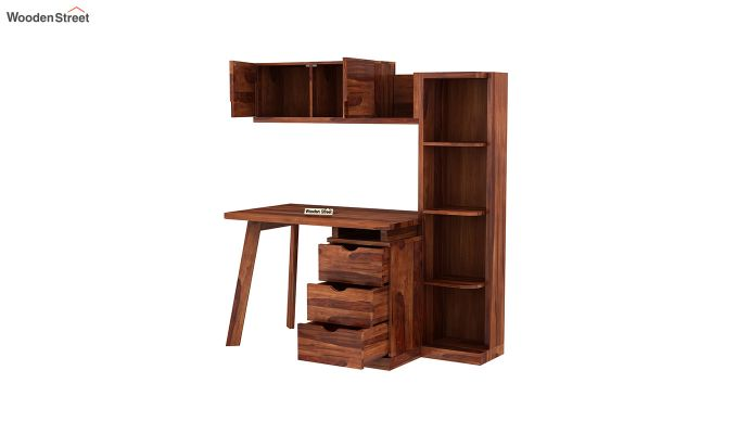 Grande Kids Study Table With Drawers (Honey Finish)-6