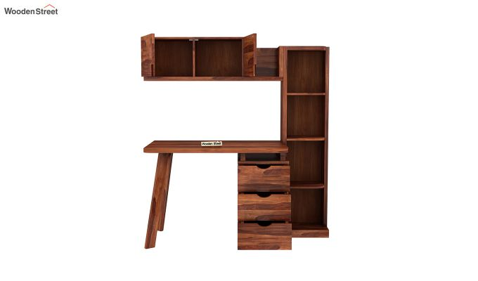 Grande Kids Study Table With Drawers (Honey Finish)-7