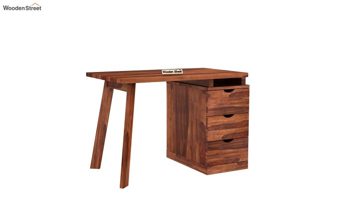 Grande Kids Study Table With Drawers (Honey Finish)-8