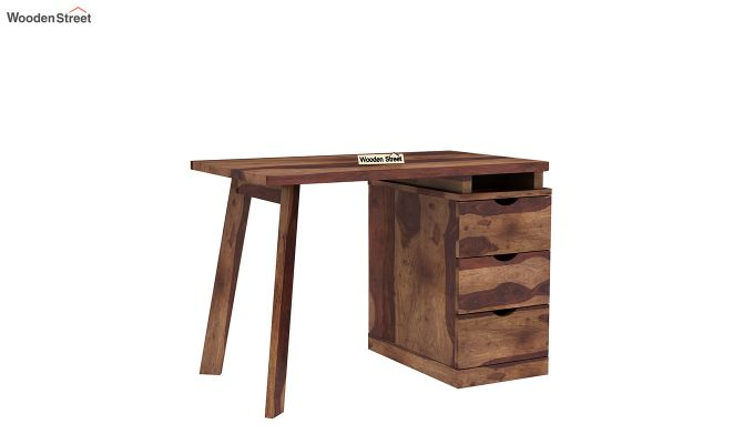 Grande Study Table With Drawers (Teak Finish)-8