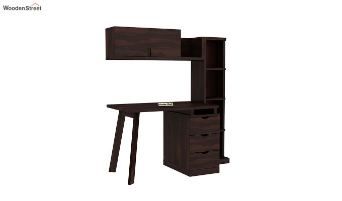 Grande Study Table With Drawers (Walnut Finish)-2