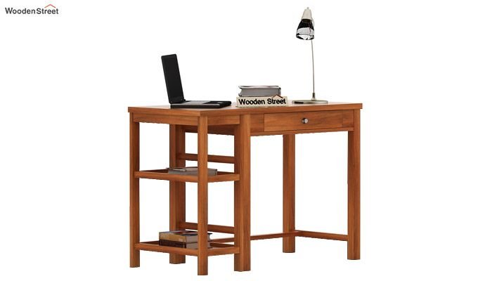 Gregory Study Table (Honey Finish)-1