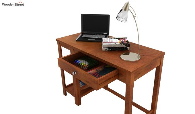 Gregory Study Table (Honey Finish)-3