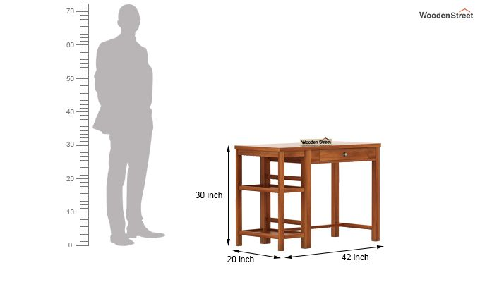 Gregory Study Table (Honey Finish)-5