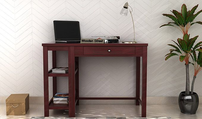 Gregory Study Table (Mahogany Finish)-1