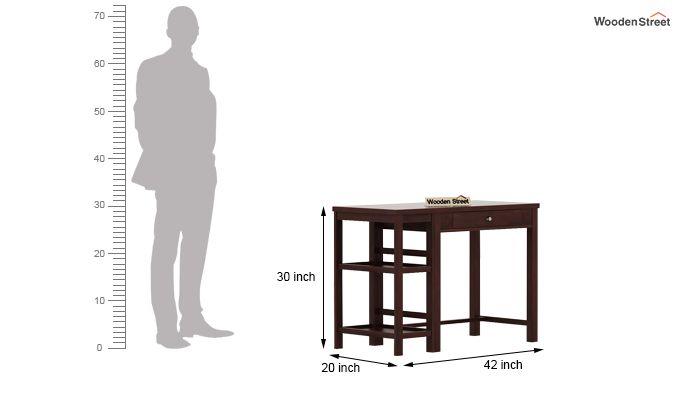 Gregory Study Table (Walnut Finish)-5