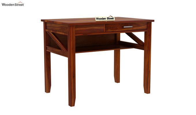 Hawkins Solid Wooden Computer Desk (Honey Finish)-3