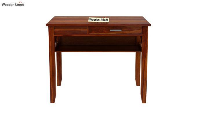 Hawkins Solid Wooden Computer Desk (Honey Finish)-4