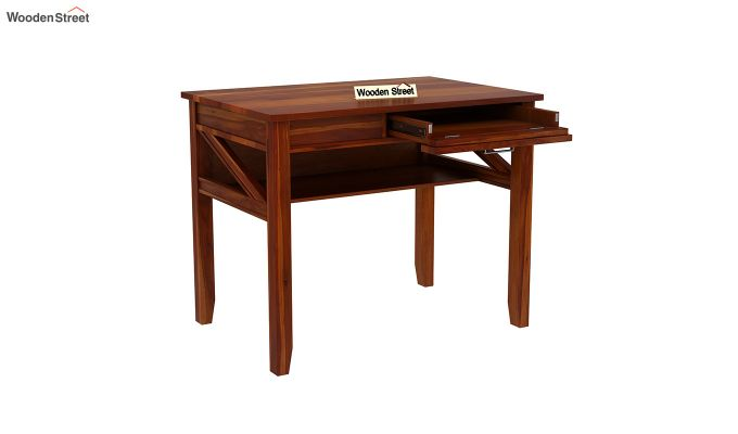 Hawkins Solid Wooden Computer Desk (Honey Finish)-5