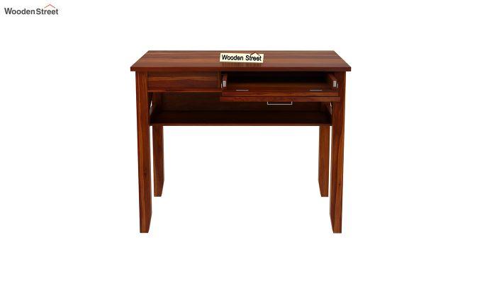 Hawkins Solid Wooden Computer Desk (Honey Finish)-6