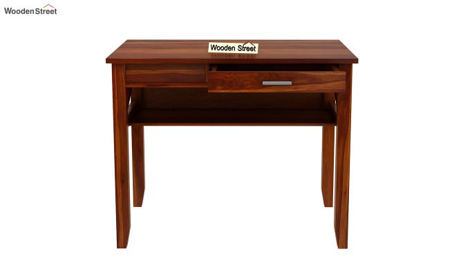 Hawkins Solid Wooden Computer Desk (Honey Finish)-8