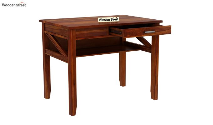 Hawkins Solid Wooden Computer Desk (Honey Finish)-9