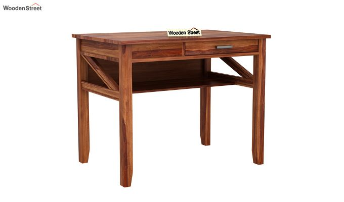Hawkins Solid Wooden Computer Desk (Teak Finish)-3