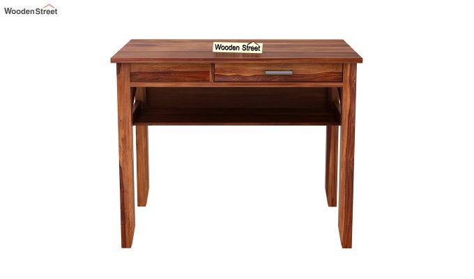 Hawkins Solid Wooden Computer Desk (Teak Finish)-4