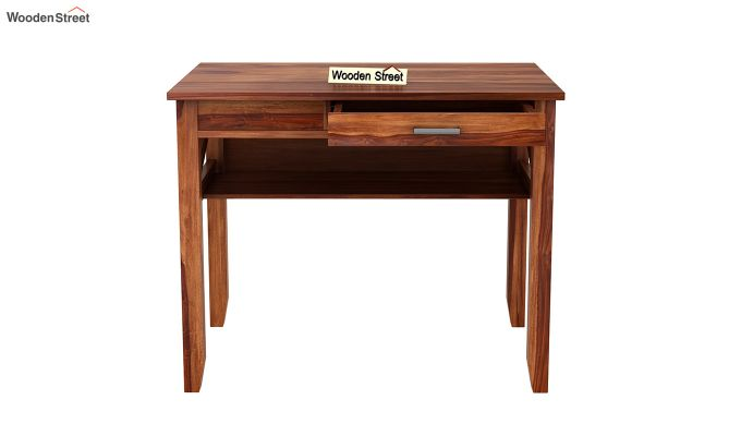 Hawkins Solid Wooden Computer Desk (Teak Finish)-8