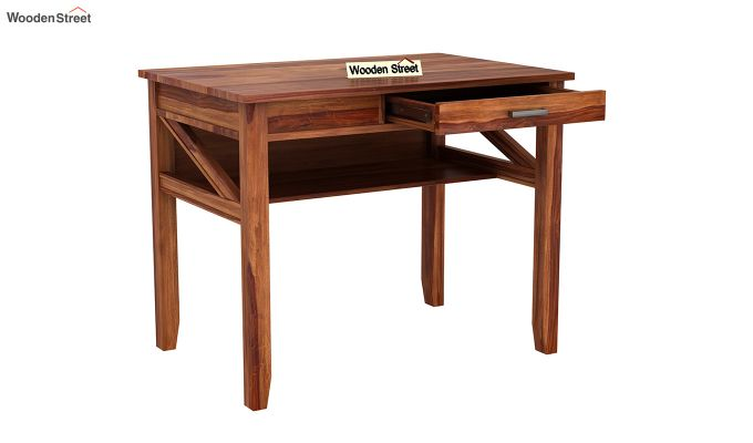 Hawkins Solid Wooden Computer Desk (Teak Finish)-9