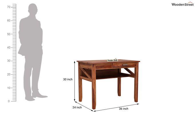 Hawkins Solid Wooden Computer Desk (Teak Finish)-10