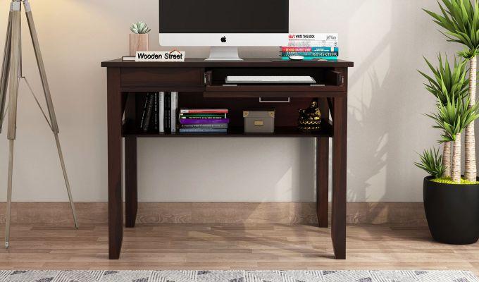 Hawkins Solid Wooden Computer Desk (Walnut Finish)-2