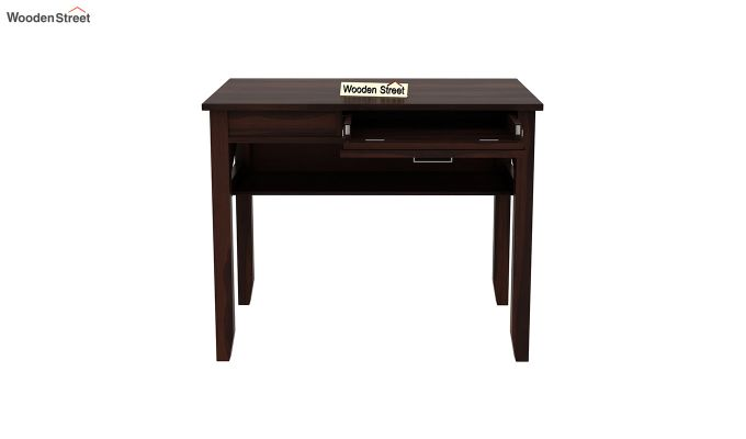 Hawkins Solid Wooden Computer Desk (Walnut Finish)-6