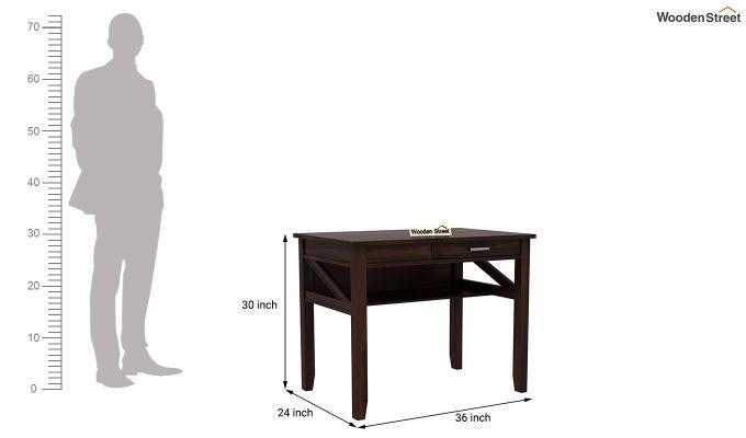 Hawkins Solid Wooden Computer Desk (Walnut Finish)-10