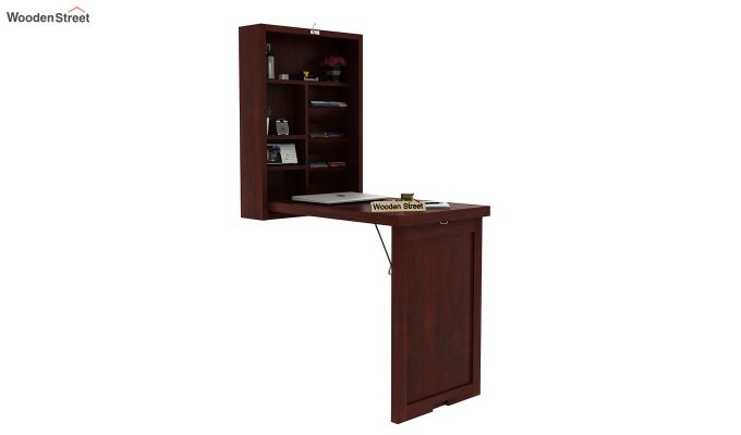 Holger Foldable Wall Mounted Table (Mahogany Finish)-1