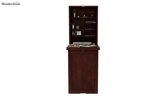 Holger Foldable Wall Mounted Table (Mahogany Finish)-2