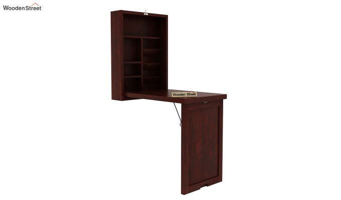 Holger Foldable Wall Mounted Table (Mahogany Finish)-3