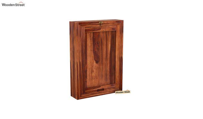 Holger Foldable Wall Mounted Table (Honey Finish)-4