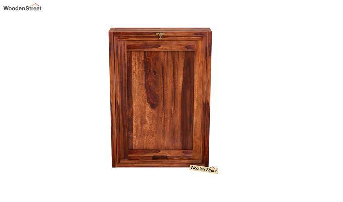 Holger Foldable Wall Mounted Table (Honey Finish)-5