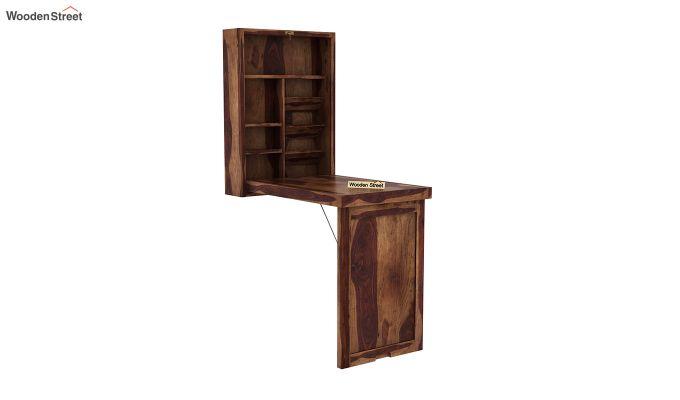 Holger Foldable Wall Mounted Table (Teak Finish)-2
