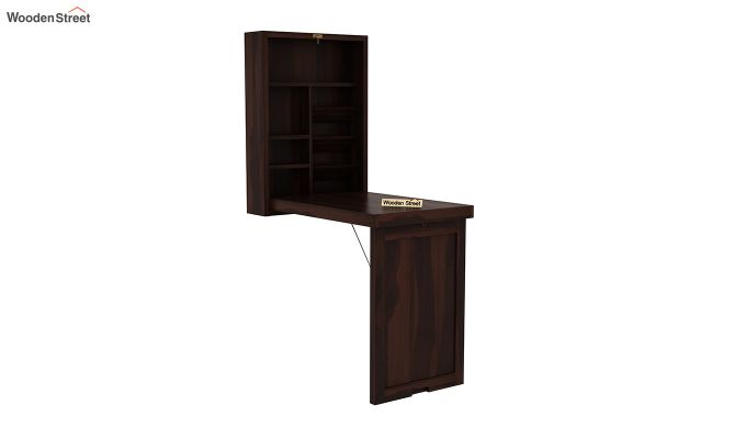 Holger Foldable Wall Mounted Table (Walnut Finish)-2