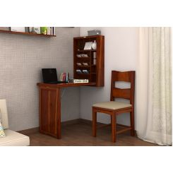 Holger Foldable Wall Mounted Table (Honey Finish)